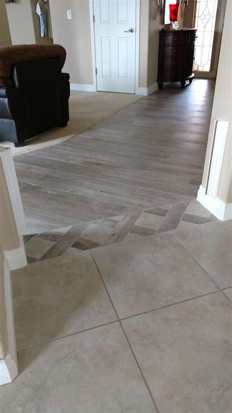 Tile Floor In Kitchen Abutting Wood Floor   Morespoons