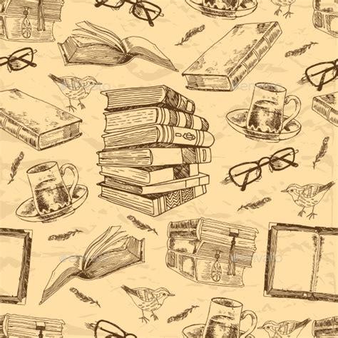 pattern in english literature vintage books vectors 187 tinkytyler org stock photos