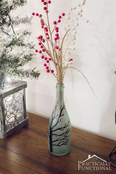 Make Your Own Vase by Diy Wintry Frosted Glass Vase