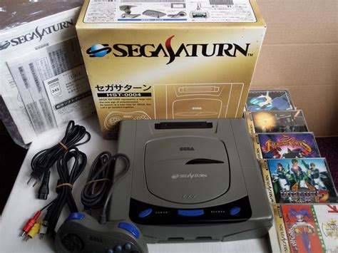 japanese saturn japanese sega saturn console boxed with 5 complete