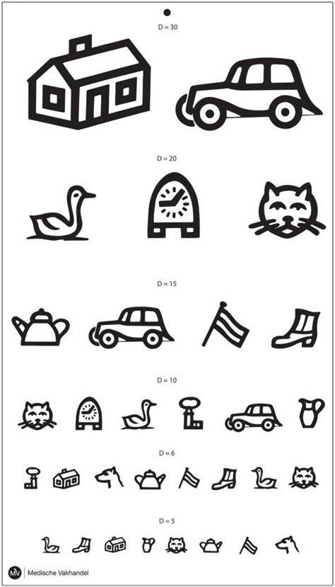 printable children s vision chart eye chart symbols for children medische vakhandel
