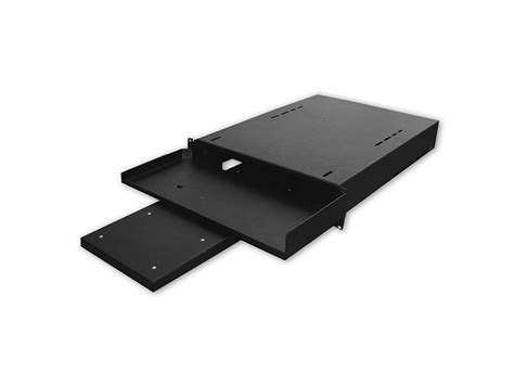 19 keyboard shelf with pull out mouse tray 1u 15d black