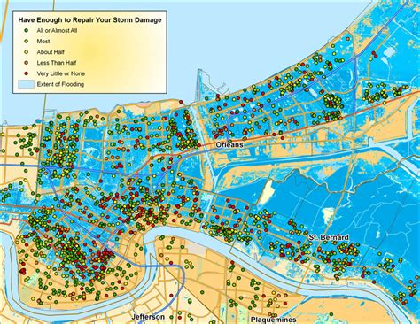 map of new orleans damage map of new orleans damage 28 images post hurricane