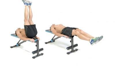 bench leg lift image gallery lying leg raises