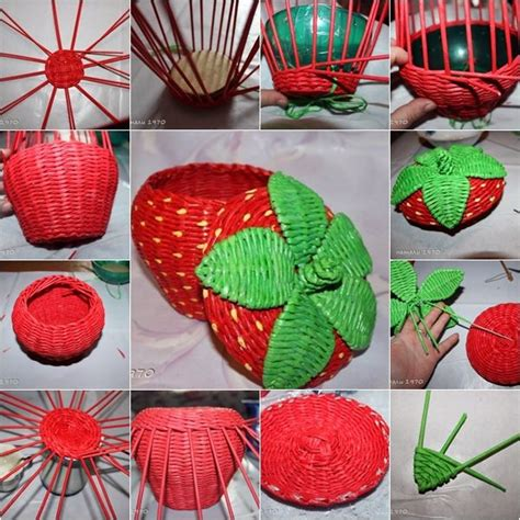 Useful Paper Crafts - woven paper craft is a way to recycle newspaper