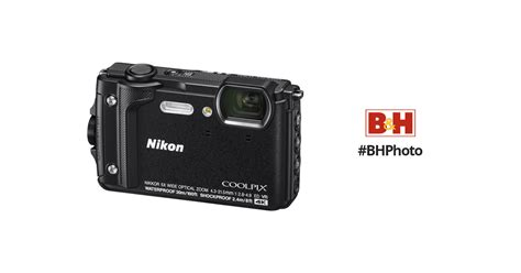 nikon coolpix w300 digital black 26523 b h photo