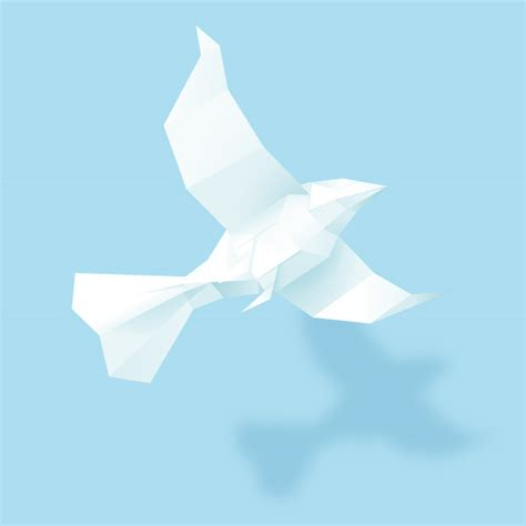 A Paper Bird - create a 3d paper bird with geometric shapes in adobe