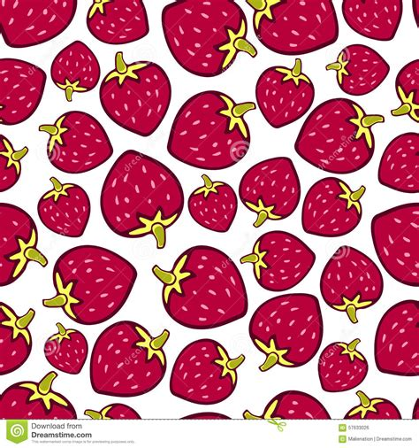 berry design strawberry seamless pattern vector doodle berry design for wallpaper web page background stock