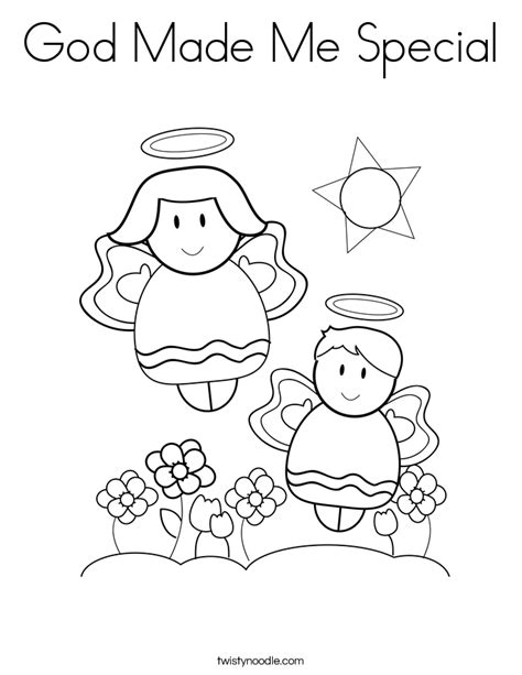 God Made Me Special Coloring Page god made me special coloring page twisty noodle