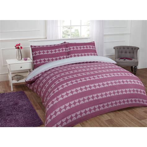 purple twin bedding textured stripe double duvet set twin purple bedding b m