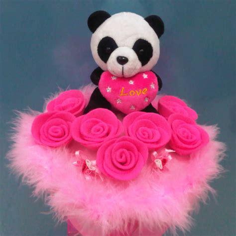 Boneka Wisuda Panda Buket jual buket boneka panda pinkyshop