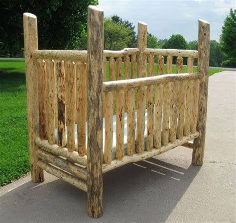 Handmade Crib 25 Best Ideas About Log Crib On Rustic Baby