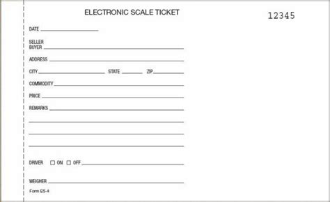 ticket prices for truck scale ticket es 4 carbon 5 1 2 x 9 quot