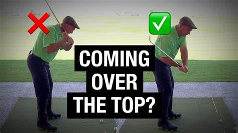 stop coming over the top in golf swing stop coming over the top 2 drills to fix your downswing