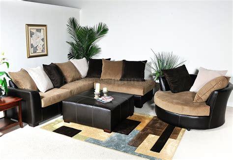 Multi Fabric Sofa by Multi Tone Fabric Modern Sectional Sofa W Optional Items