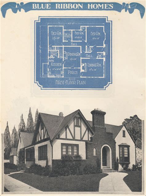 1920s revival house plan 1924 radford s blue