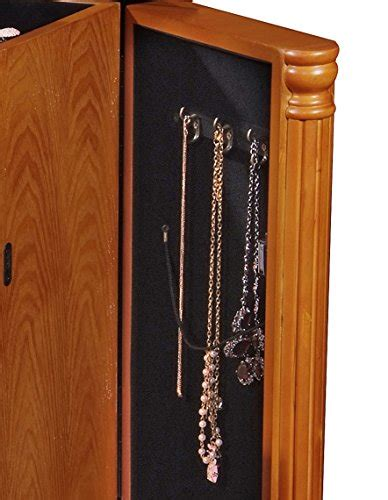 Oak Standing Mirror Jewelry Armoire by Small Floor Standing 4 Drawers Flip Top Mirror Oak