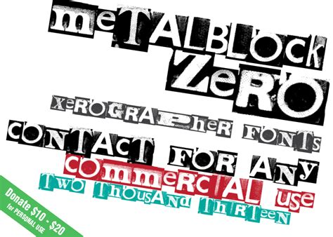 xerographer dafont metalblock zero font dafont com
