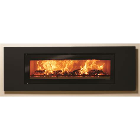 Large Wood Burning Fireplaces by Slice Large Flat Trim Inset Wood Burning Stove