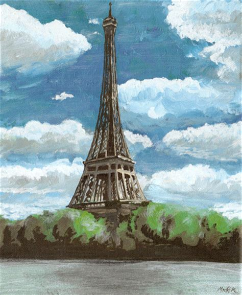 painting of eiffel tower picture image by tag keywordpictures