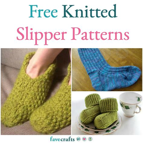 favecrafts free knitting patterns 16 free knitted slipper patterns favecrafts