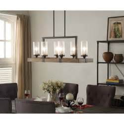 Best Dining Room Chandeliers 6 Light Metal Wood Chandelier Dining Room Kitchen Wine