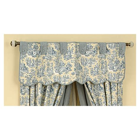 waverly curtains at lowes shop waverly 16 in l lake home classics scalloped valance