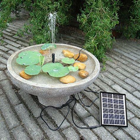 Lewisia Solar Bird Bath Fountain Pump Solar Powered Water