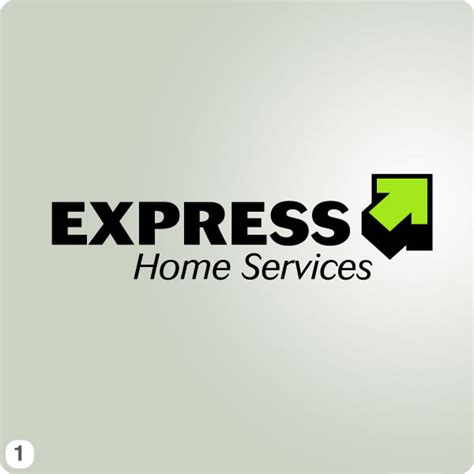 work from home logo design express home services new logo design