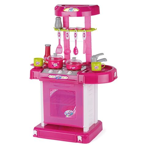 Kitchen Toys by Toyrific Pink Play Lights And Sound Kitchen