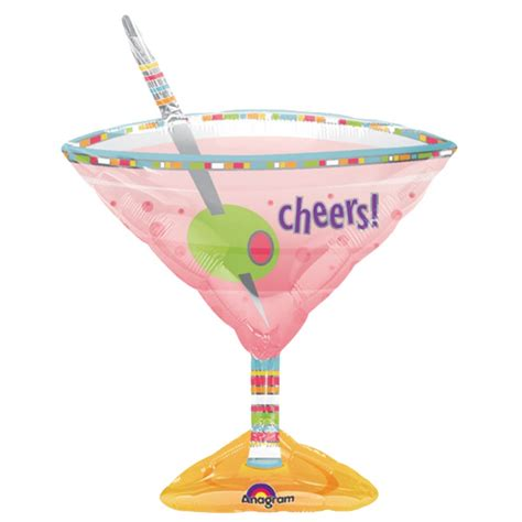 martini glass cheers tropical drink super shape balloon partyrama co uk