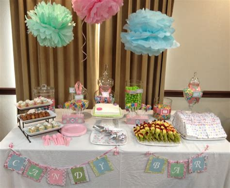 Baby Shower Buffet Table by Shop Craft Bake The Pastel Baby Shower