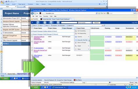 excel project management alternative trackersuite net