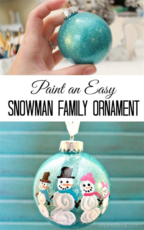 how to clean christmas ornaments diy painted snowman family ornament 4 real