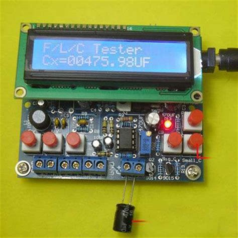 arduino inductor tester diy kit led capacitance frequency inductance tester meter 51 microcontroller ebay