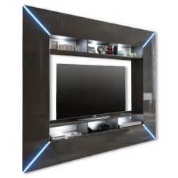 tv beleuchtung tv wand scooter grau hochglanz led beleuchtung tv