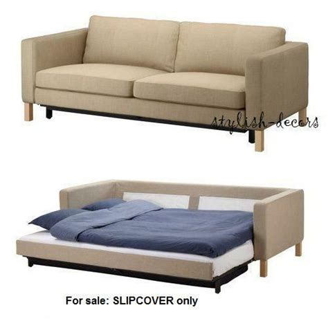 Sofa Beds Uk Ikea by Ikea Karlstad Sofa Bed Slipcover 202 030 68 Lindo Beige Ebay