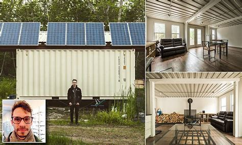 a canadian man built this off grid shipping container home joseph dupuis built shipping container home puts it up for