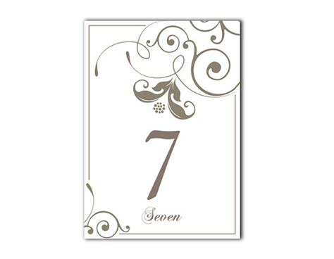 table numbers printable wedding table card template diy