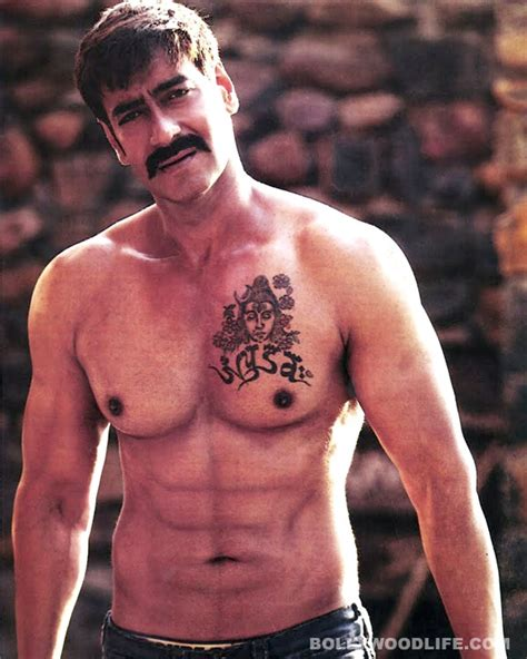tattoo on ajay devgan neck after nysa ajay devgn to get son yug s name tattooed on