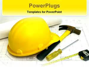 items used in construction powerpoint template background