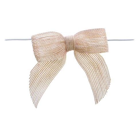 Gs154 Gstring Strapped Front With Ribbon white burlap pre bows