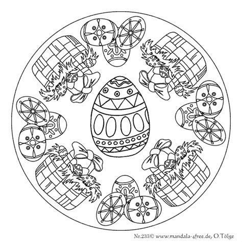 free easter mandala coloring pages mandalas f 252 r ostern mandalas for easter pinterest