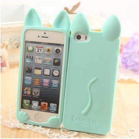 Iphone5 3d Kisd 3d lovely koko cat phone for iphone x 4s 5c 5s se 6 6s 7 8 plus rabbit