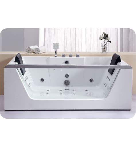 eago bathtub eago am196 6 foot clear rectangular whirlpool bath tub for