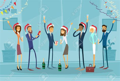 new year celebration in office new year clipart office celebration pencil and in color