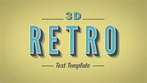 3d Retro Kinetic Typography After Effects Template Videohive 9596311 After Effects Project Kinetic Text Template