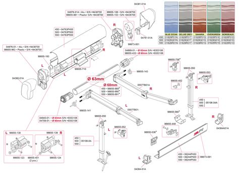 fiamma f45 awning parts caravansplus spare parts diagram fiamma f45 i l 450 550