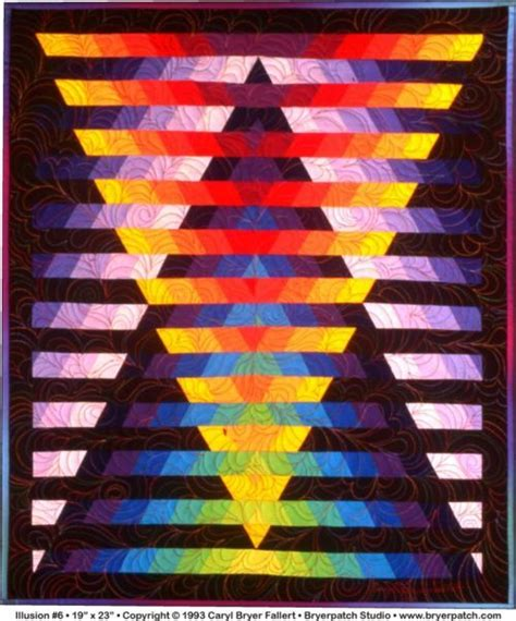 Illusion Quilt Pattern by Quot Illusion Quot By Caryl Bryer Fallert Amazing Color