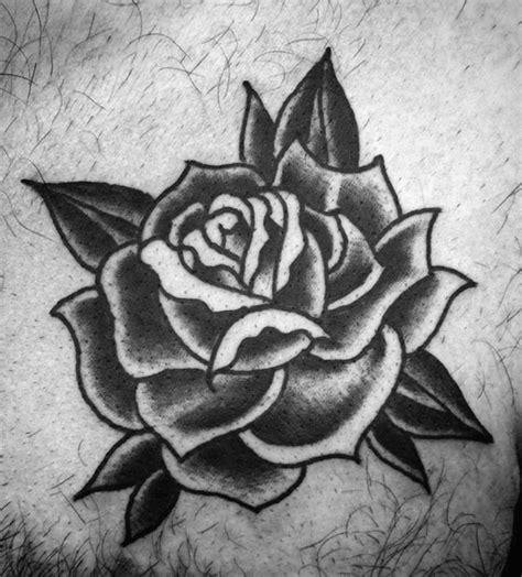 traditional black rose tattoo 80 black designs for ink ideas